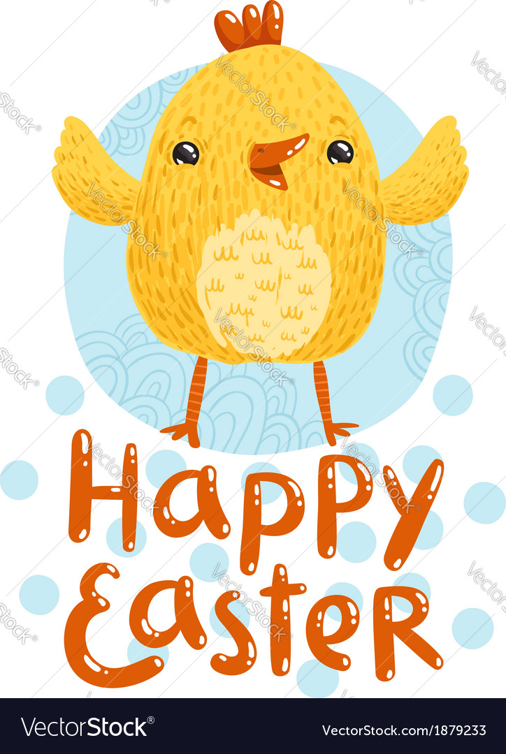 Happy easter greetings vector | Price: 1 Credit (USD $1)