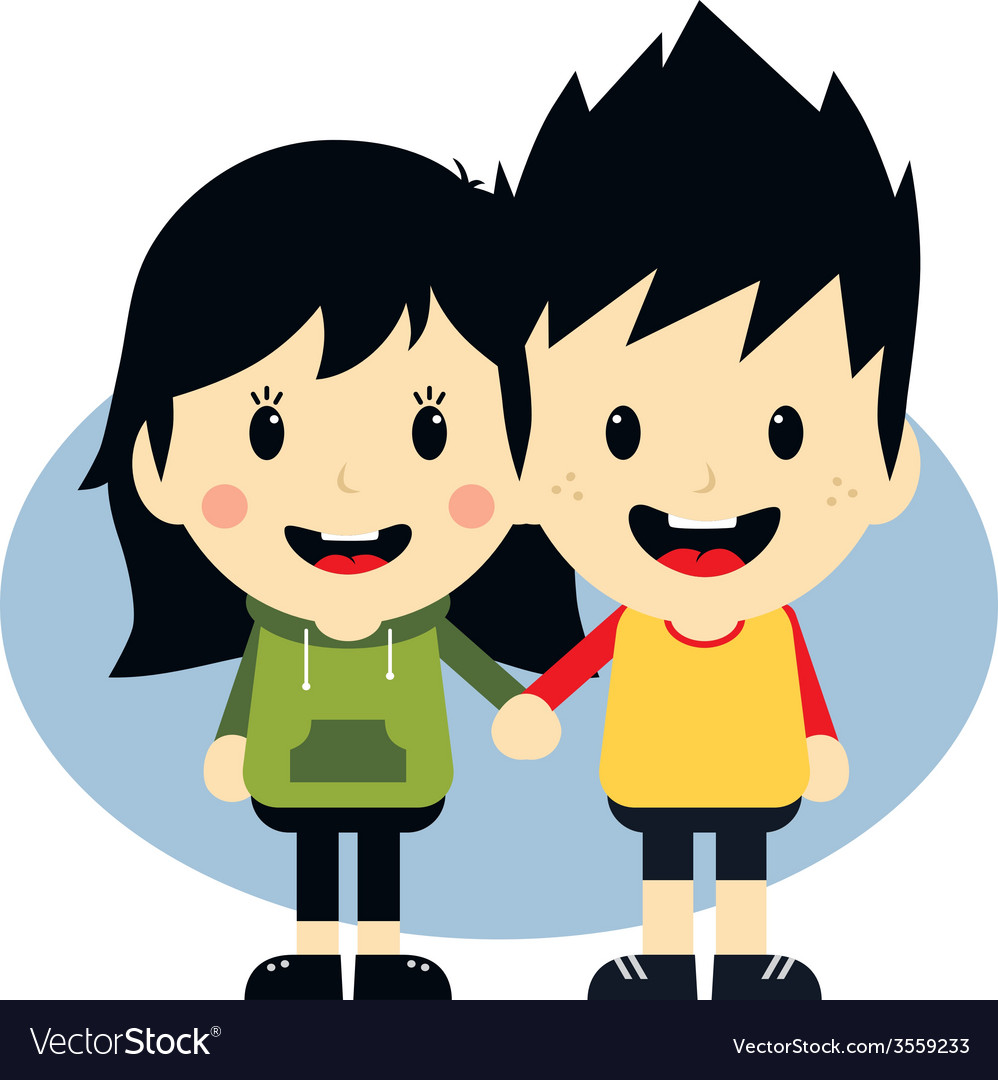 Love couple cartoon character vector | Price: 1 Credit (USD $1)