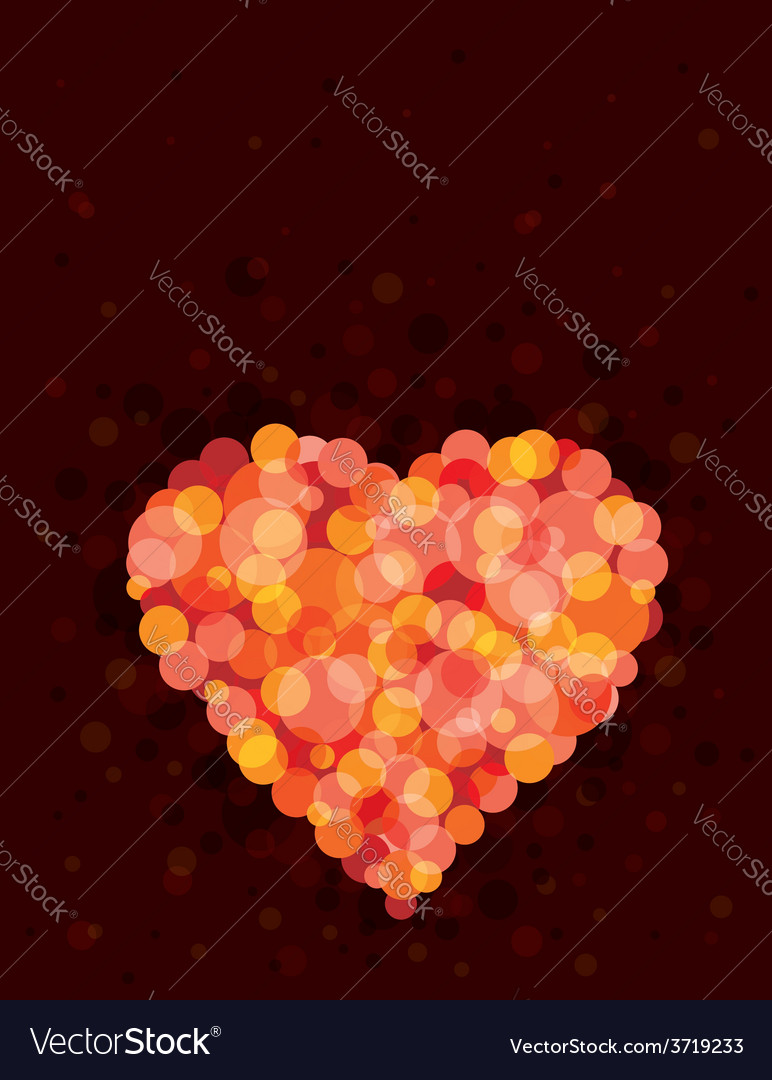 Lovely red heart vector | Price: 1 Credit (USD $1)