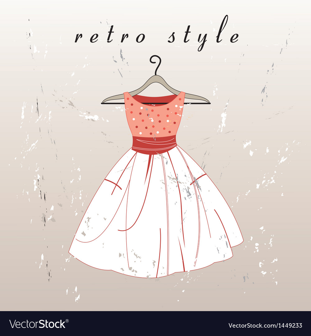 Retro dress vector | Price: 1 Credit (USD $1)