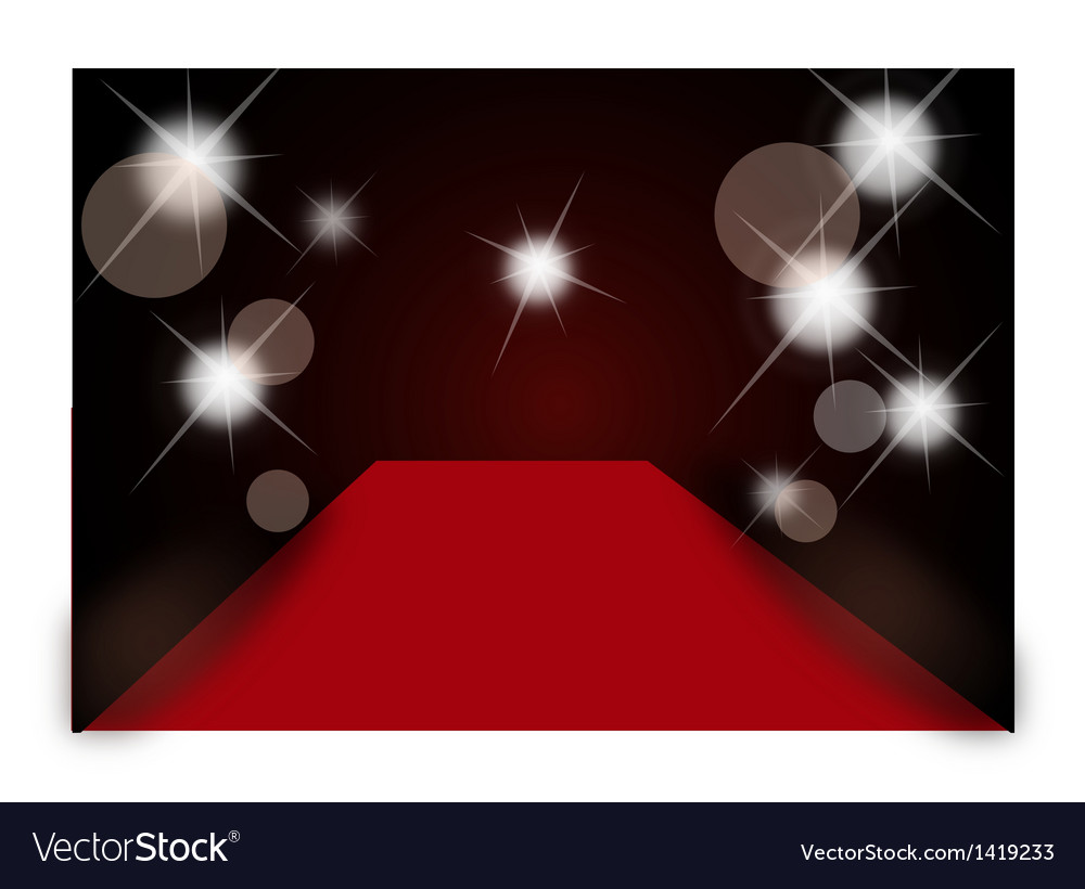 Sparkle red carpet background vector | Price: 1 Credit (USD $1)