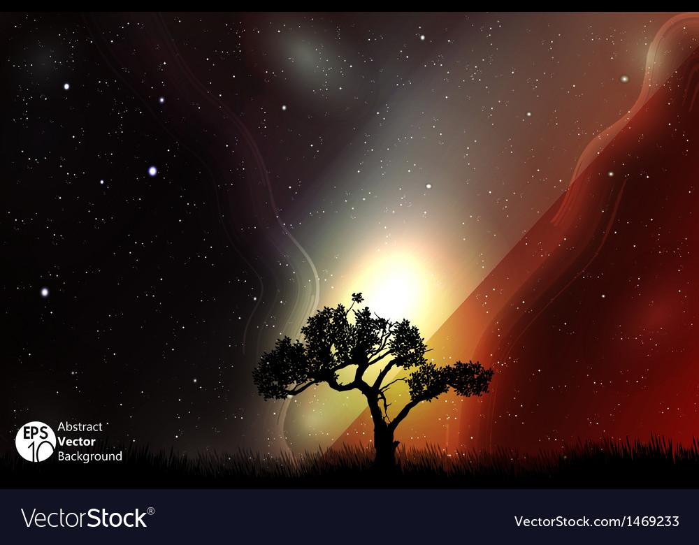 Starry night vector | Price: 1 Credit (USD $1)
