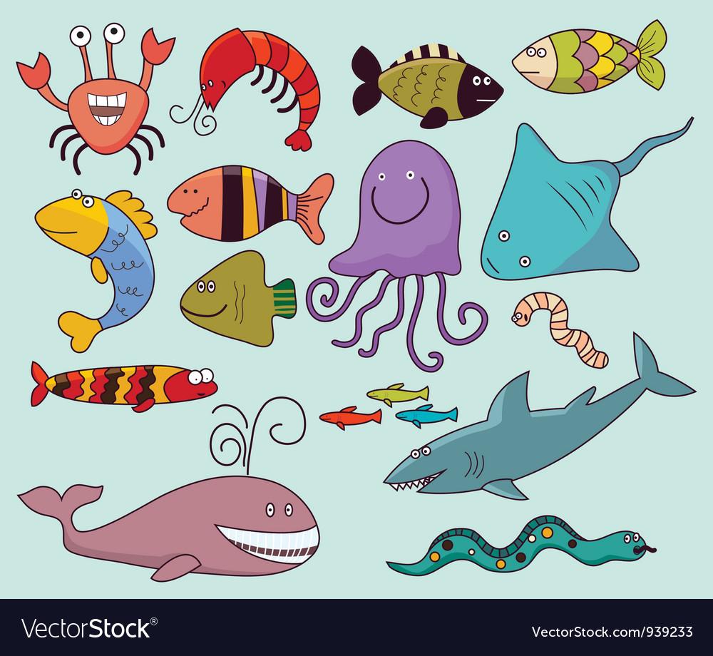 Underwater wildlife vector   Price: 1 Credit (USD $1)