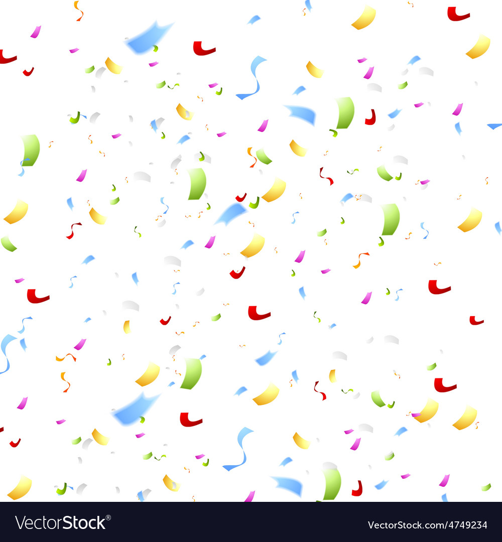 Bright shiny confetti on white background vector | Price: 1 Credit (USD $1)