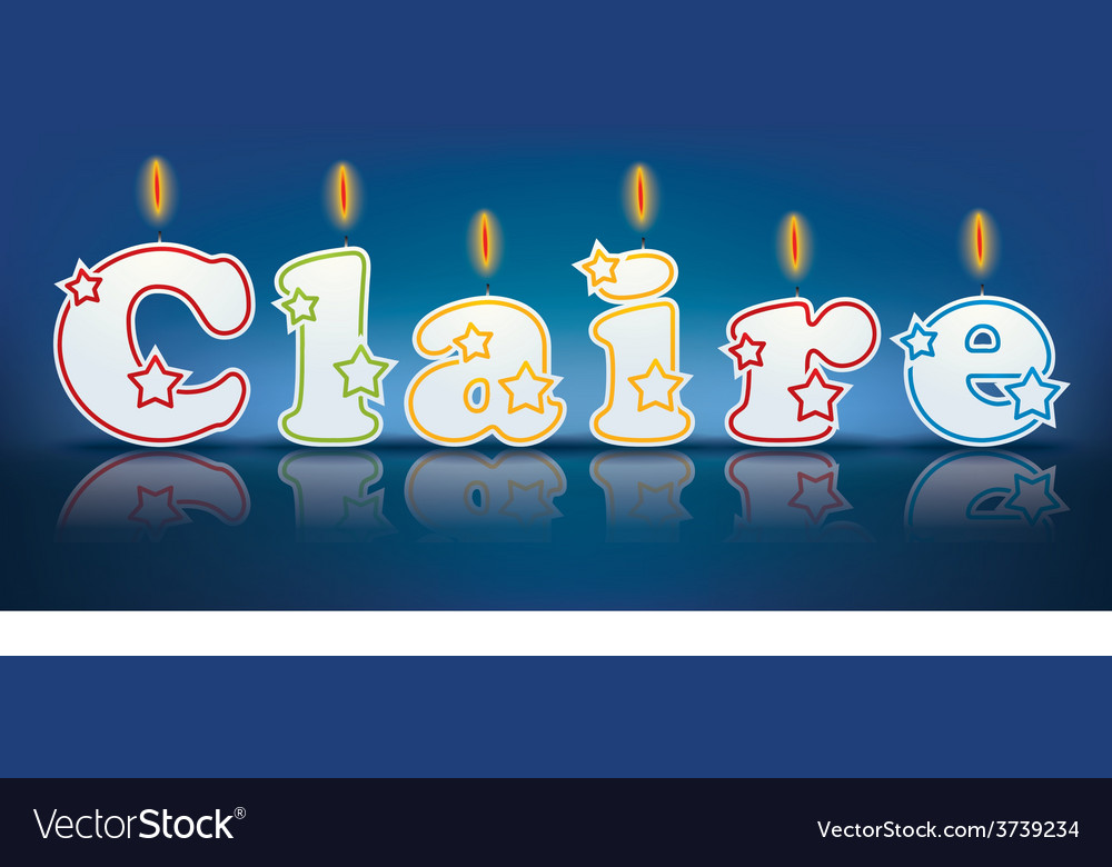 Claire written with burning candles vector | Price: 1 Credit (USD $1)