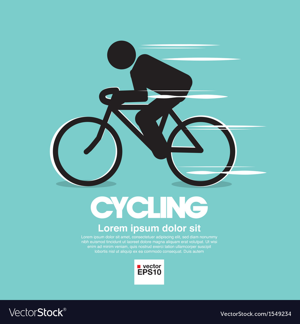 Cycling graphic symbol vector | Price: 1 Credit (USD $1)