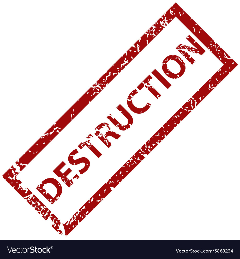 Destruction rubber stamp vector | Price: 1 Credit (USD $1)
