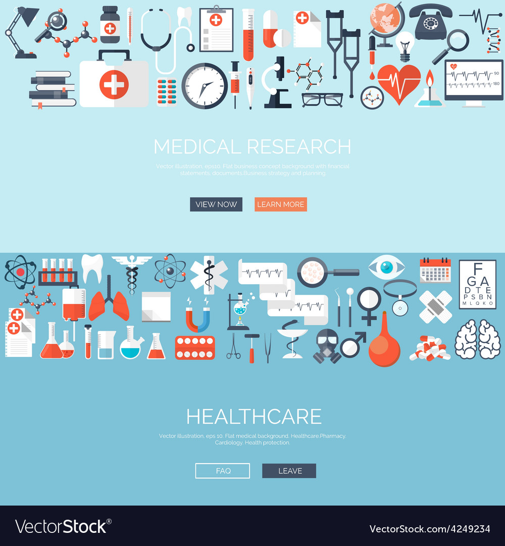 Flat medical background vector | Price: 1 Credit (USD $1)