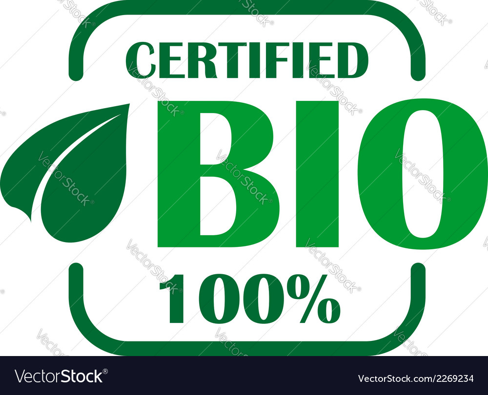 Green bio label or sign vector | Price: 1 Credit (USD $1)