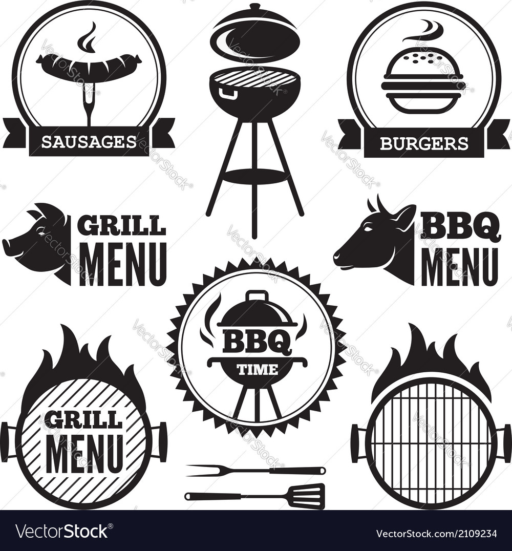 Grill and bbq1 vector | Price: 1 Credit (USD $1)