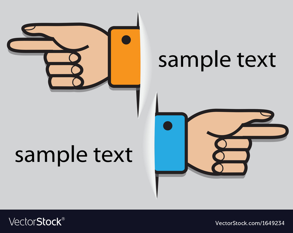 Hand pointing direction vector | Price: 1 Credit (USD $1)