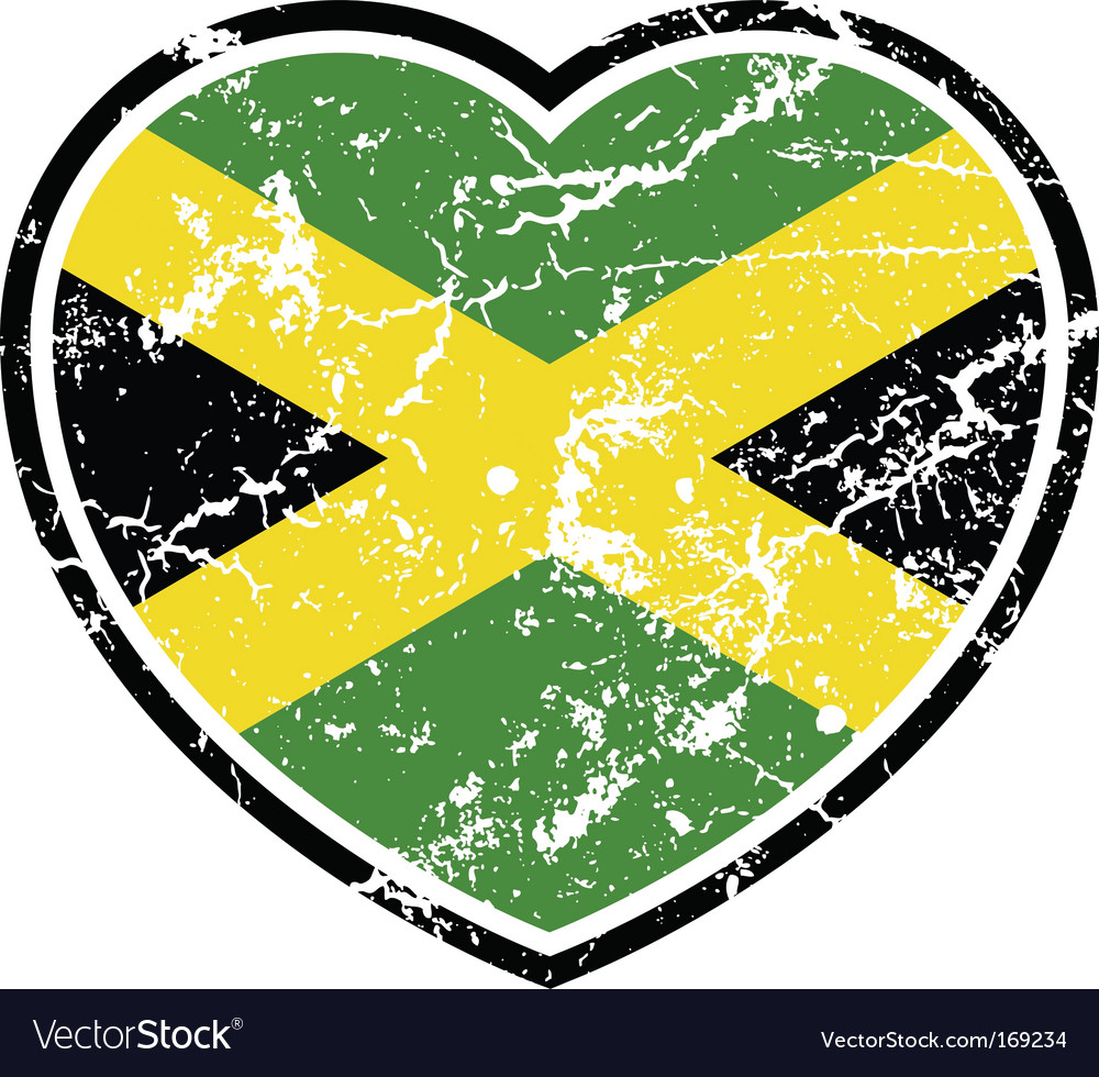 Jamaican flag vector | Price: 1 Credit (USD $1)