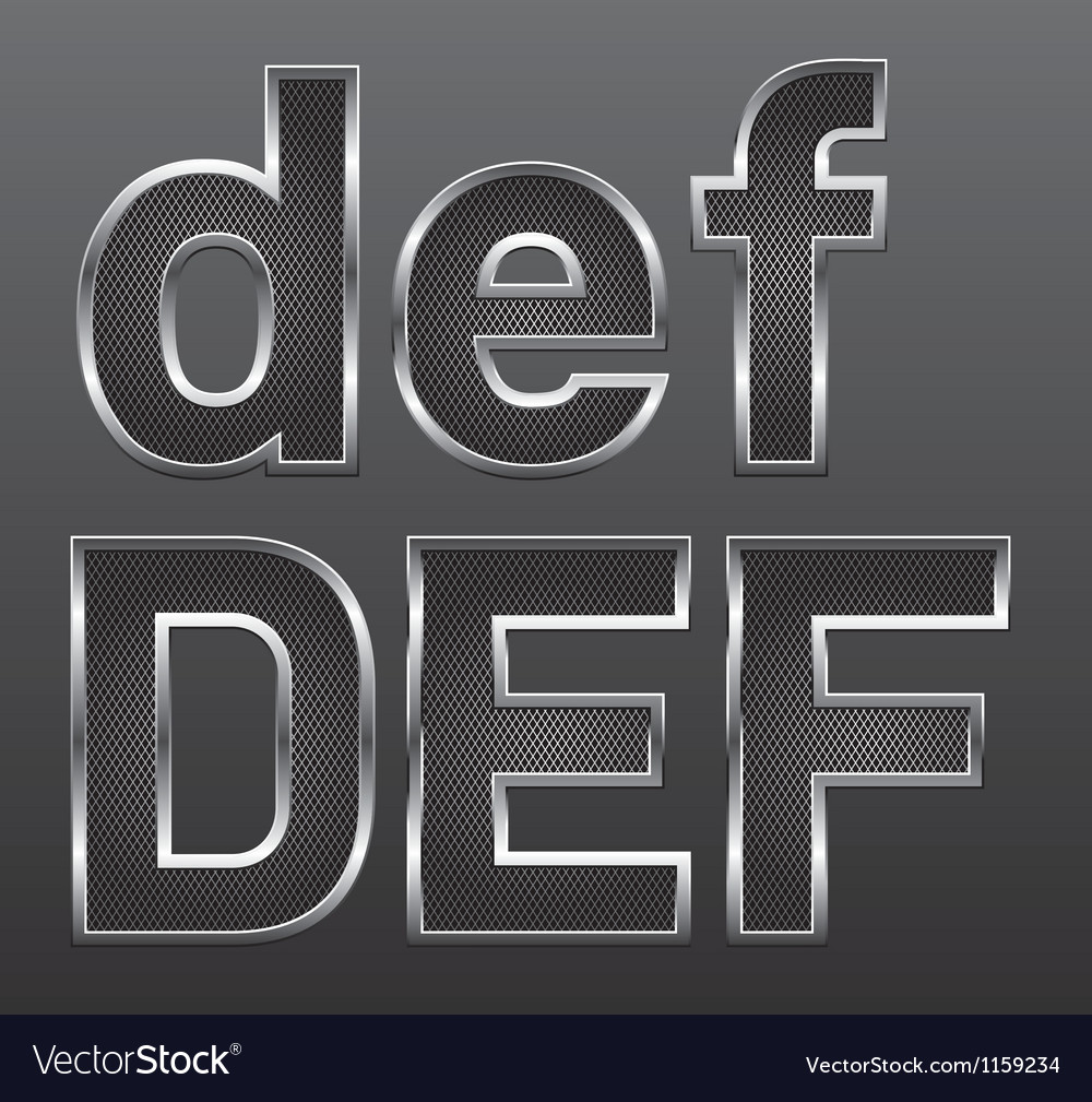 Metal letters big and small 02 vector | Price: 1 Credit (USD $1)
