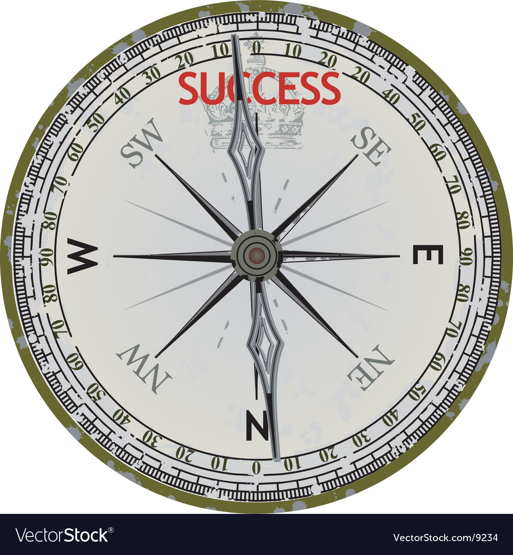 Old compass course to success vector | Price: 1 Credit (USD $1)