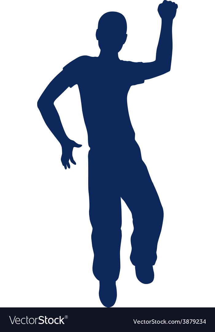Silhouette of little boy vector | Price: 1 Credit (USD $1)