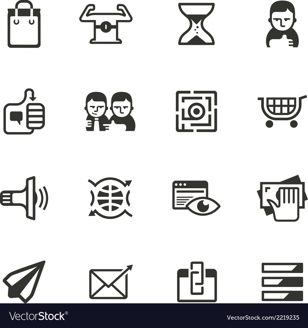 16 content marketing icons vector | Price: 1 Credit (USD $1)