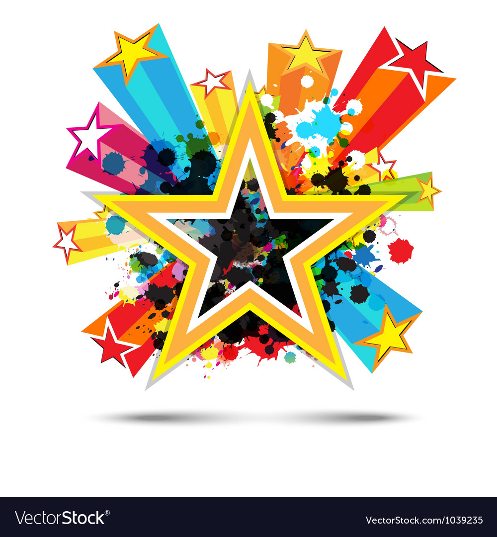 Abstract celebration star background design vector | Price: 1 Credit (USD $1)