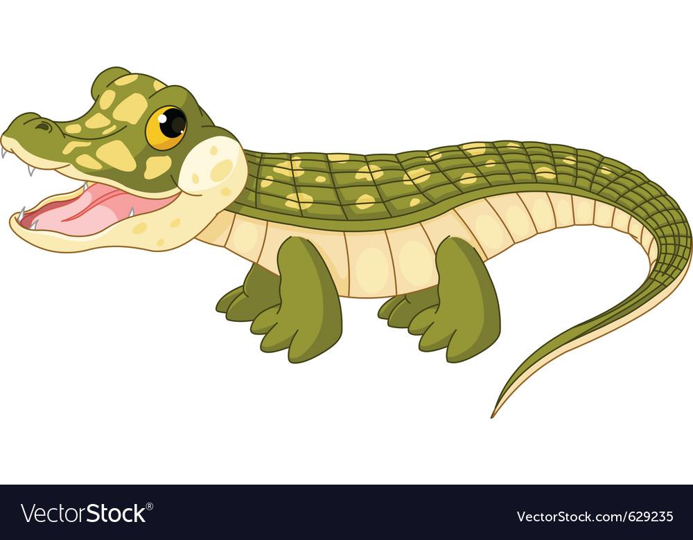 Baby crocodile vector | Price: 1 Credit (USD $1)