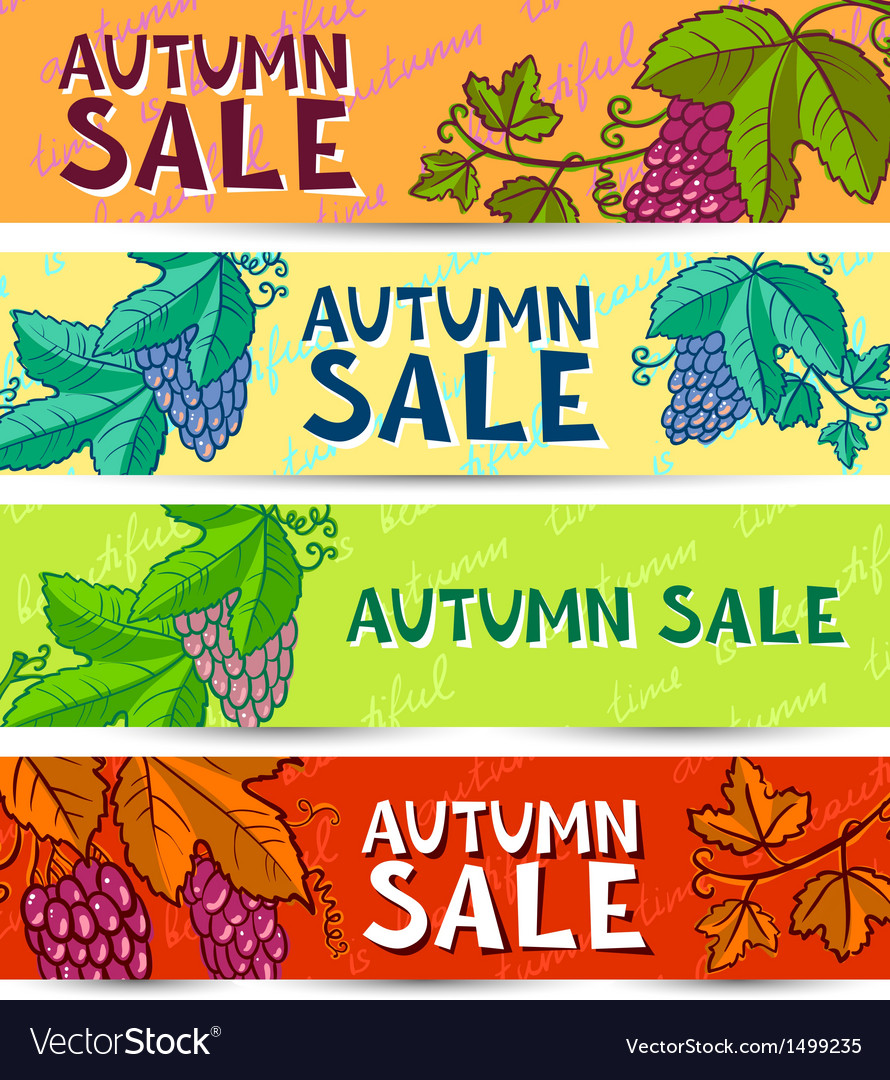 Grape banners vector | Price: 1 Credit (USD $1)