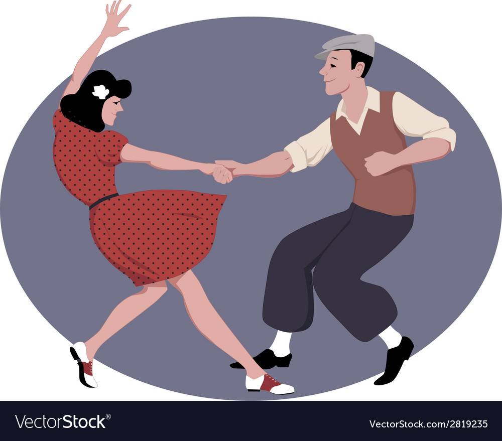 Lindy hop dancing vector | Price: 1 Credit (USD $1)