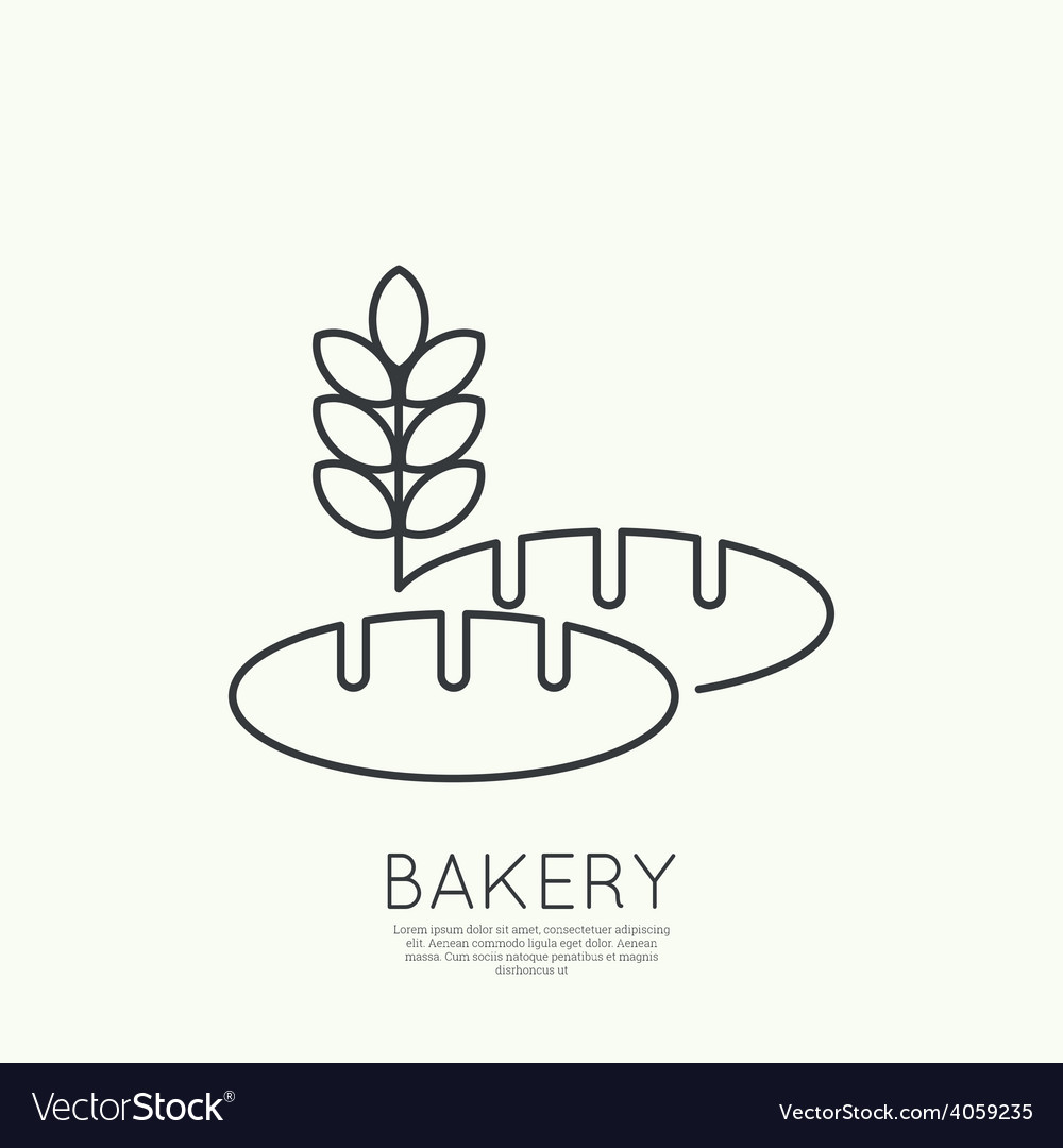 Loaf of bread and wheat ears vector | Price: 1 Credit (USD $1)