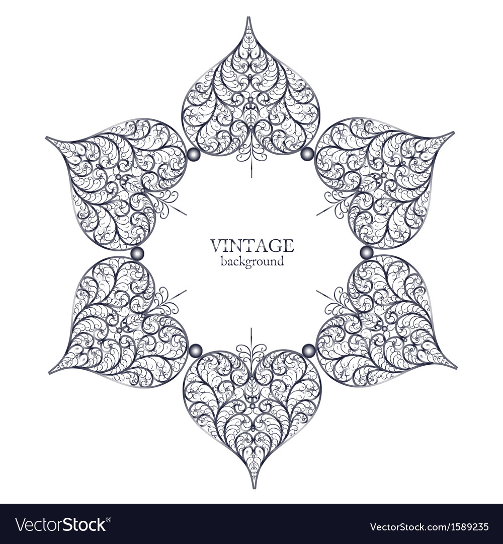 Ornamental round lace circle ornament vector | Price: 1 Credit (USD $1)