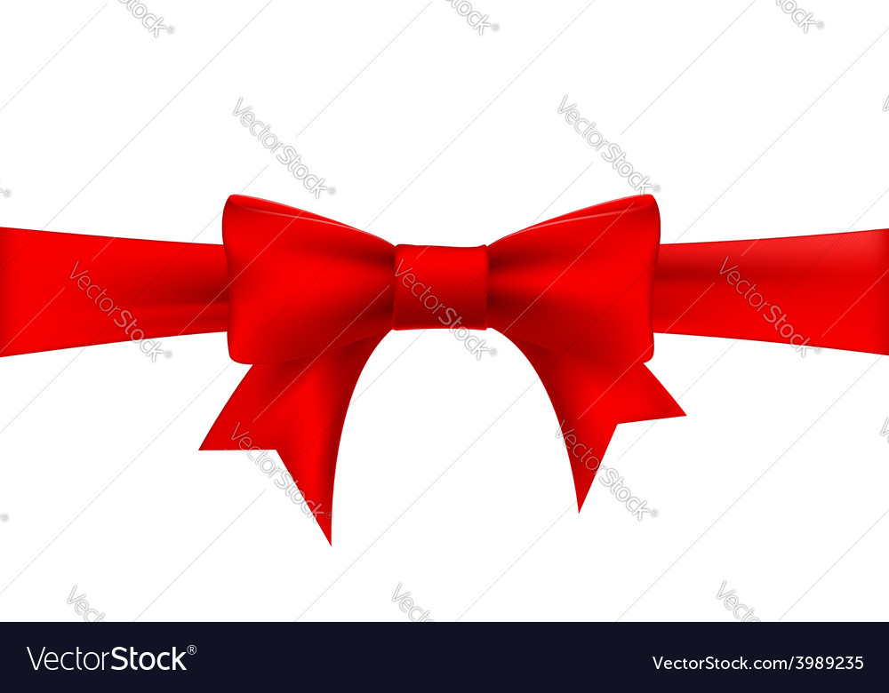 Red ribbon with a bow vector | Price: 1 Credit (USD $1)