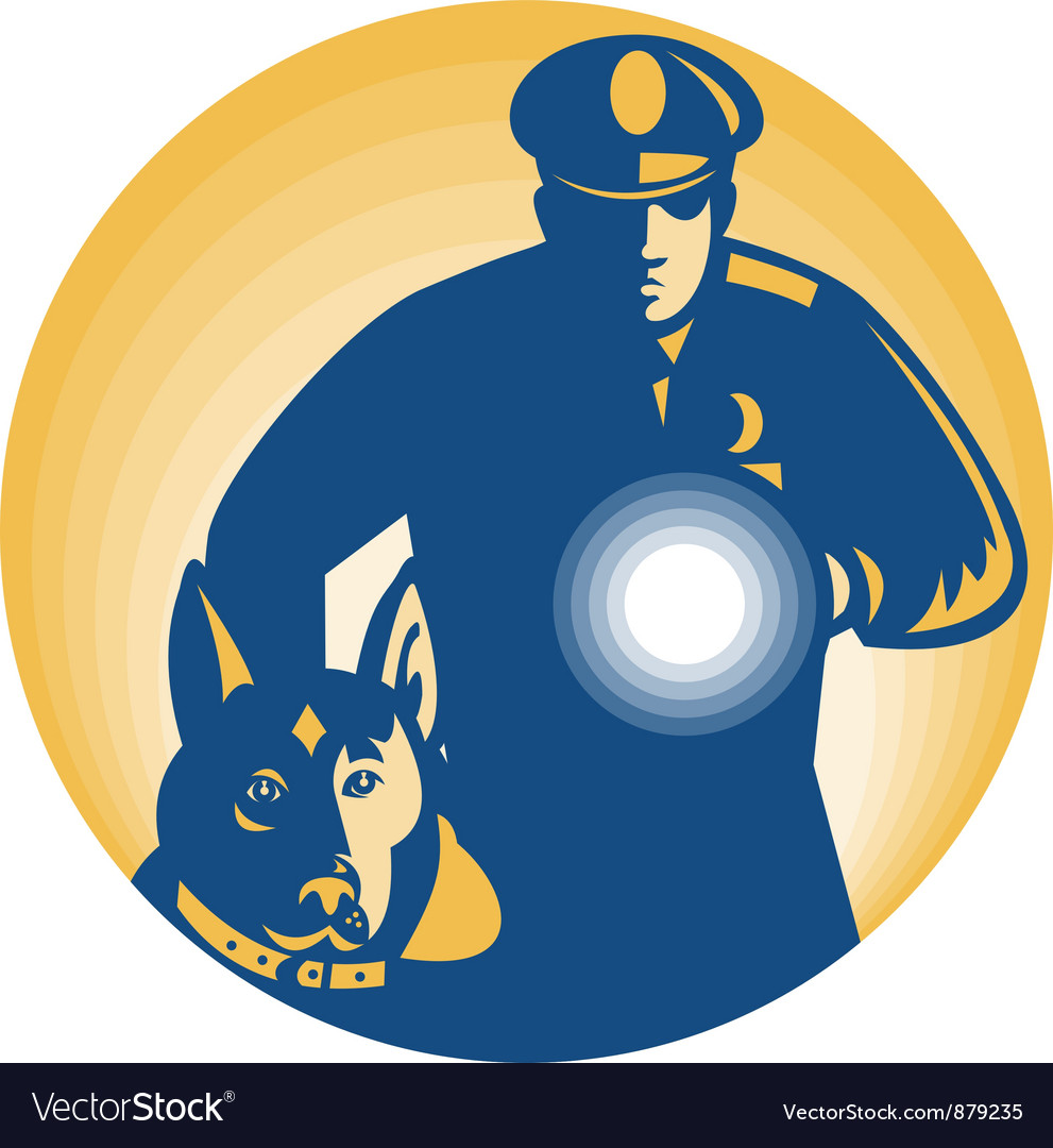 Security guard policeman vector | Price: 1 Credit (USD $1)