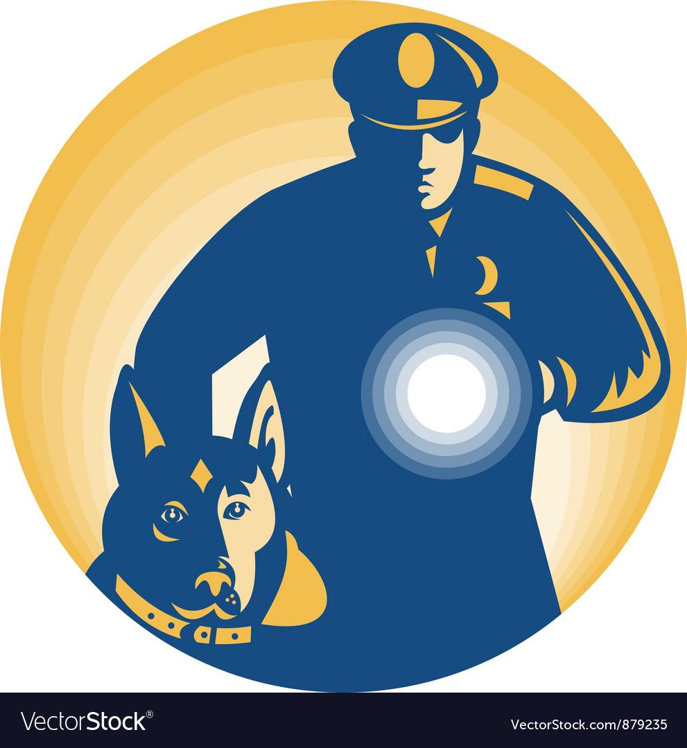 Security guard policeman vector | Price: 1 Credit (USD $1)