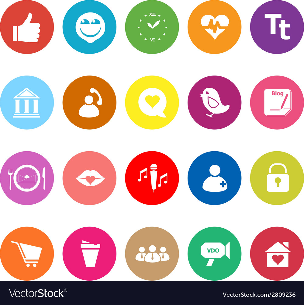 Chat conversation flat icons on white background vector | Price: 1 Credit (USD $1)