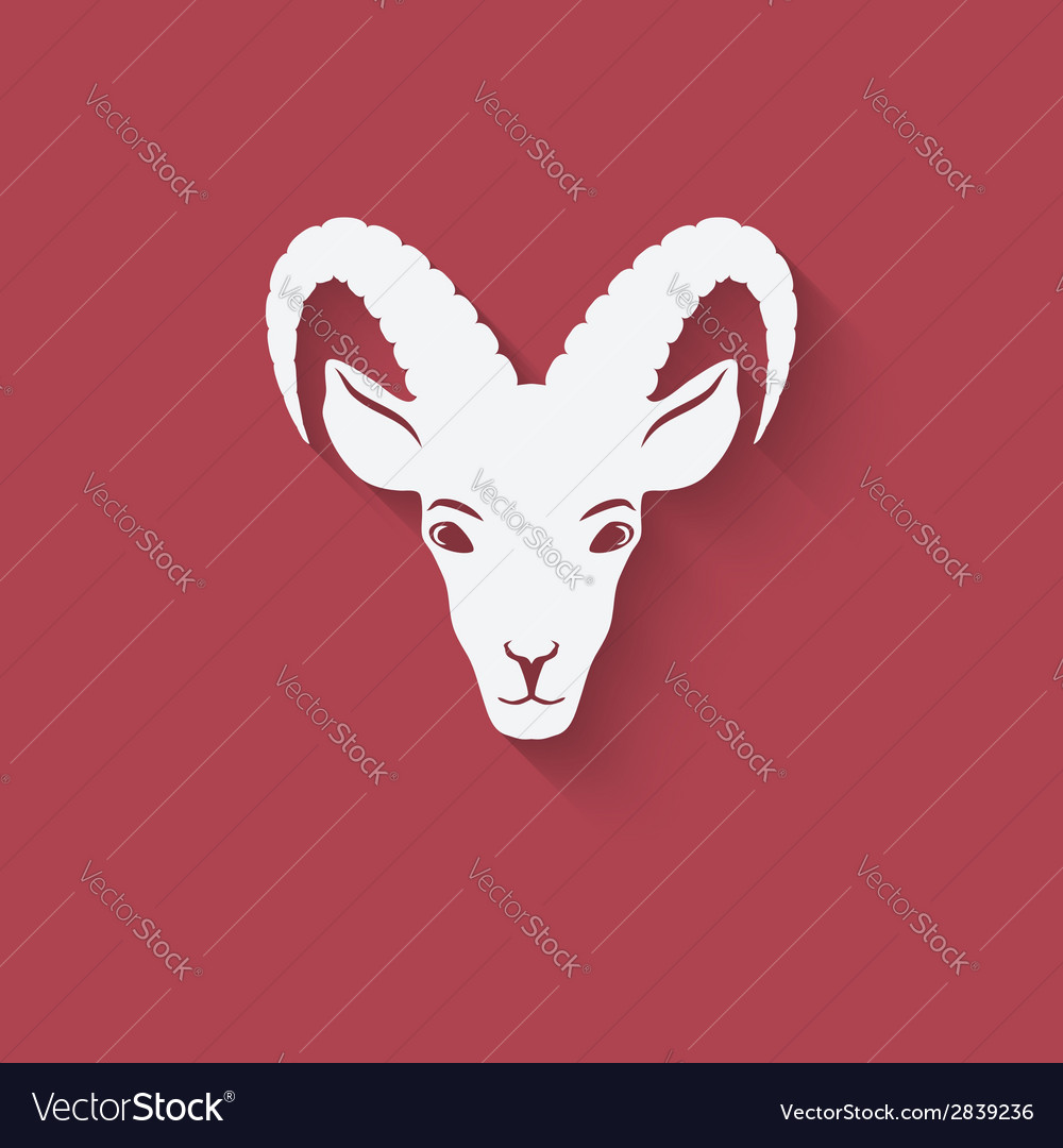 Goat head symbol vector | Price: 1 Credit (USD $1)