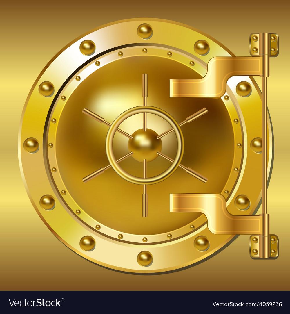 Gold bank doors vector | Price: 1 Credit (USD $1)