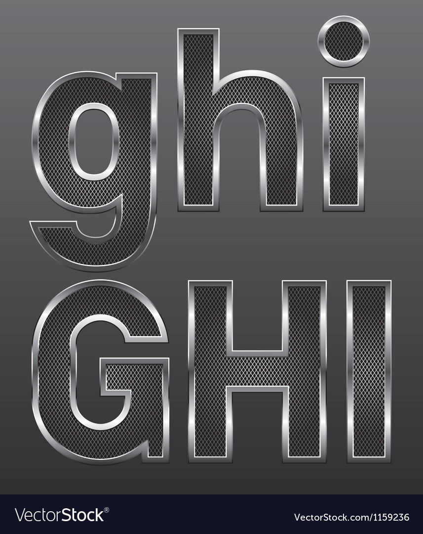 Metal letters big and small 03 vector | Price: 1 Credit (USD $1)