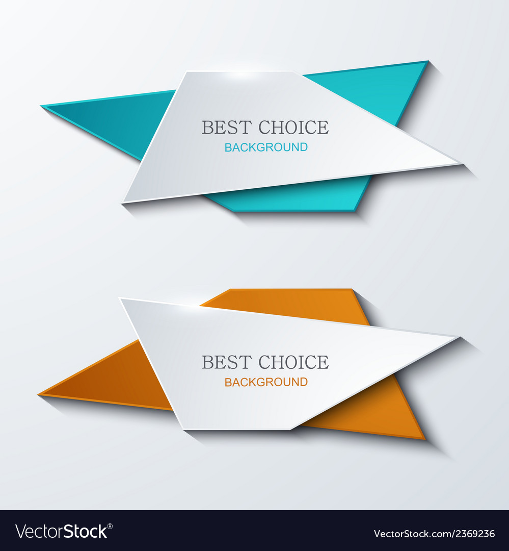Moder banners element design vector | Price: 1 Credit (USD $1)