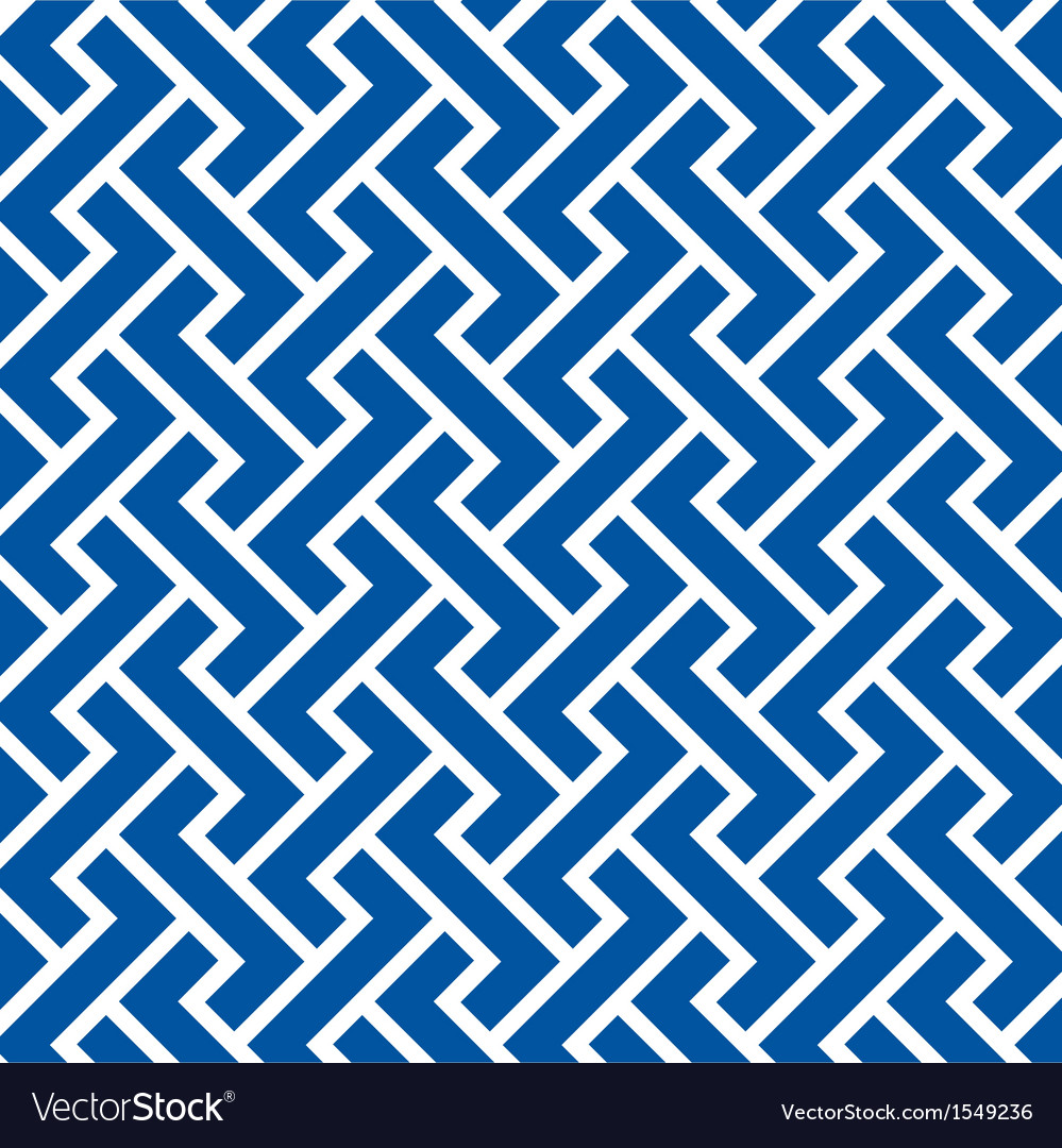 Pattern seamless chevron blue vector | Price: 1 Credit (USD $1)
