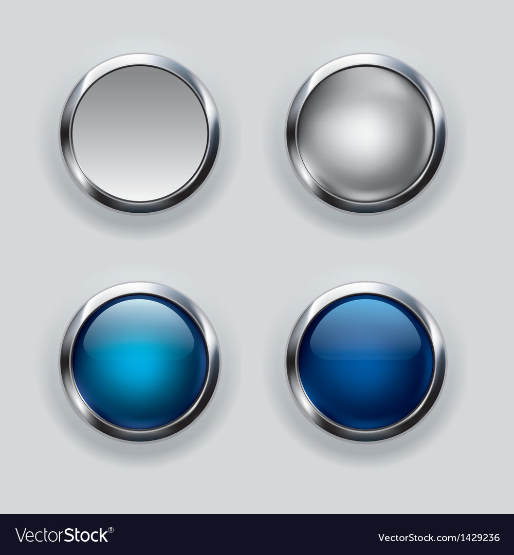 Silver button background vector | Price: 1 Credit (USD $1)