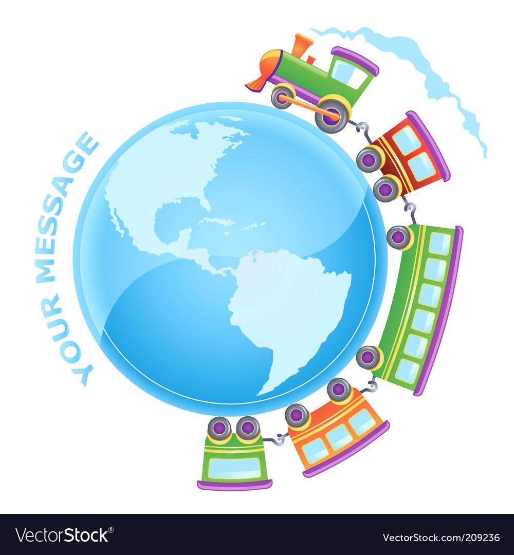 Train world vector | Price: 1 Credit (USD $1)