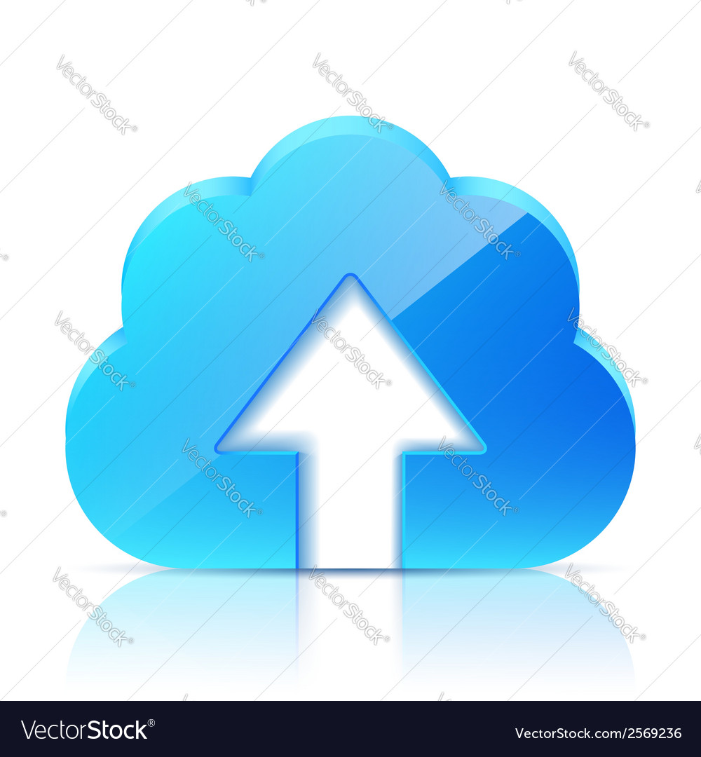 Upload cloud icon vector | Price: 1 Credit (USD $1)