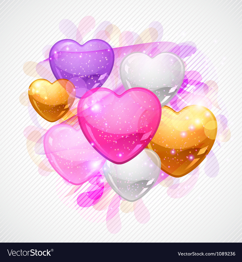 Valentines day background gift card and flyer vector | Price: 1 Credit (USD $1)