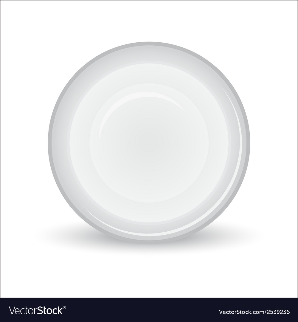 White plate on a white background vector | Price: 1 Credit (USD $1)