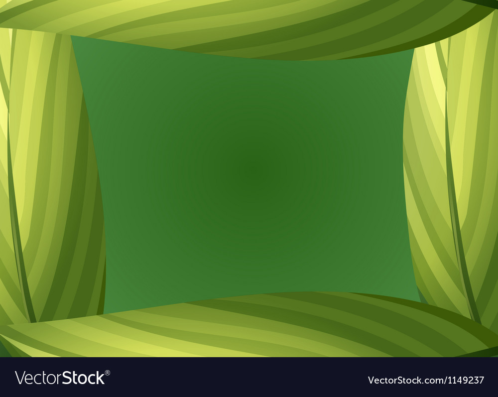 A green leafy border vector | Price: 1 Credit (USD $1)