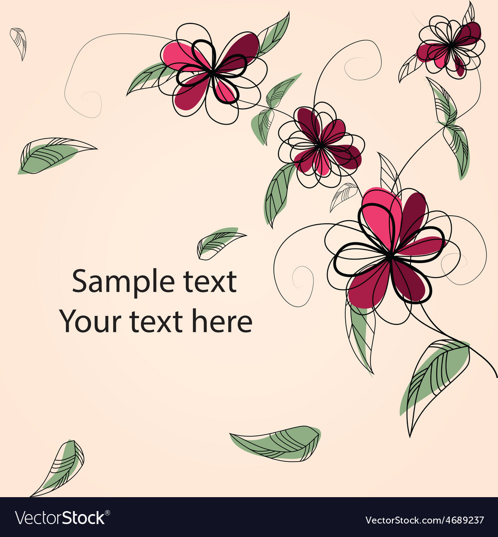 Floral bg with sample text vector | Price: 1 Credit (USD $1)