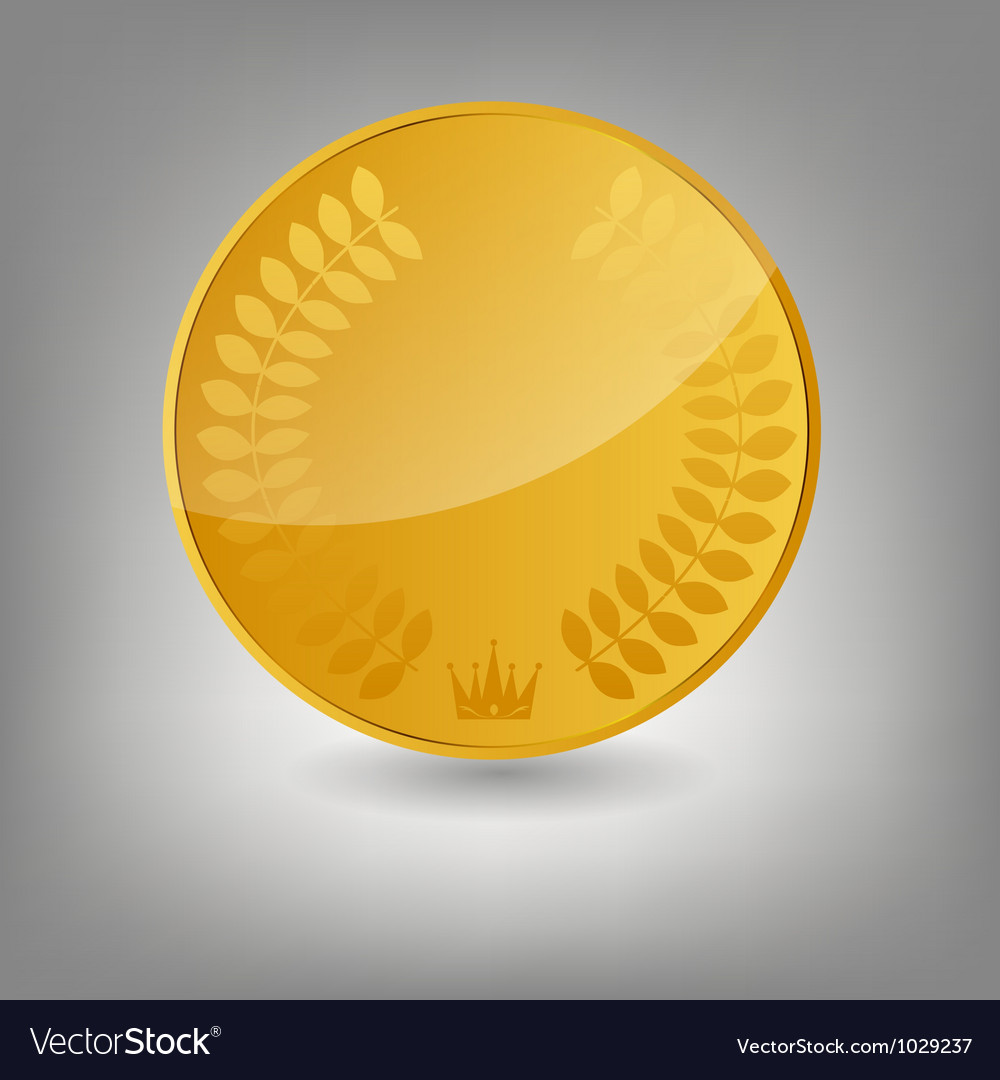 Gold coin icon vecotr vector | Price: 1 Credit (USD $1)