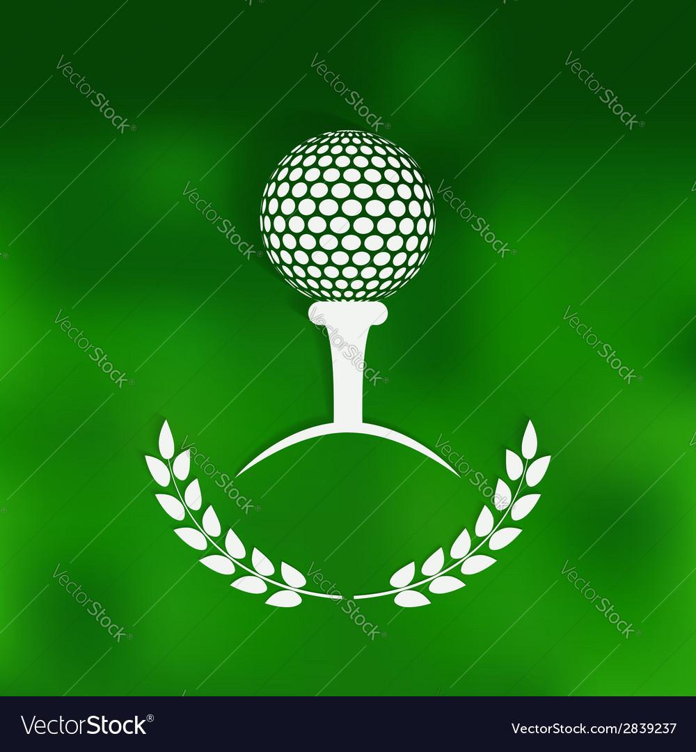 Golf symbol green blurred background vector | Price: 1 Credit (USD $1)