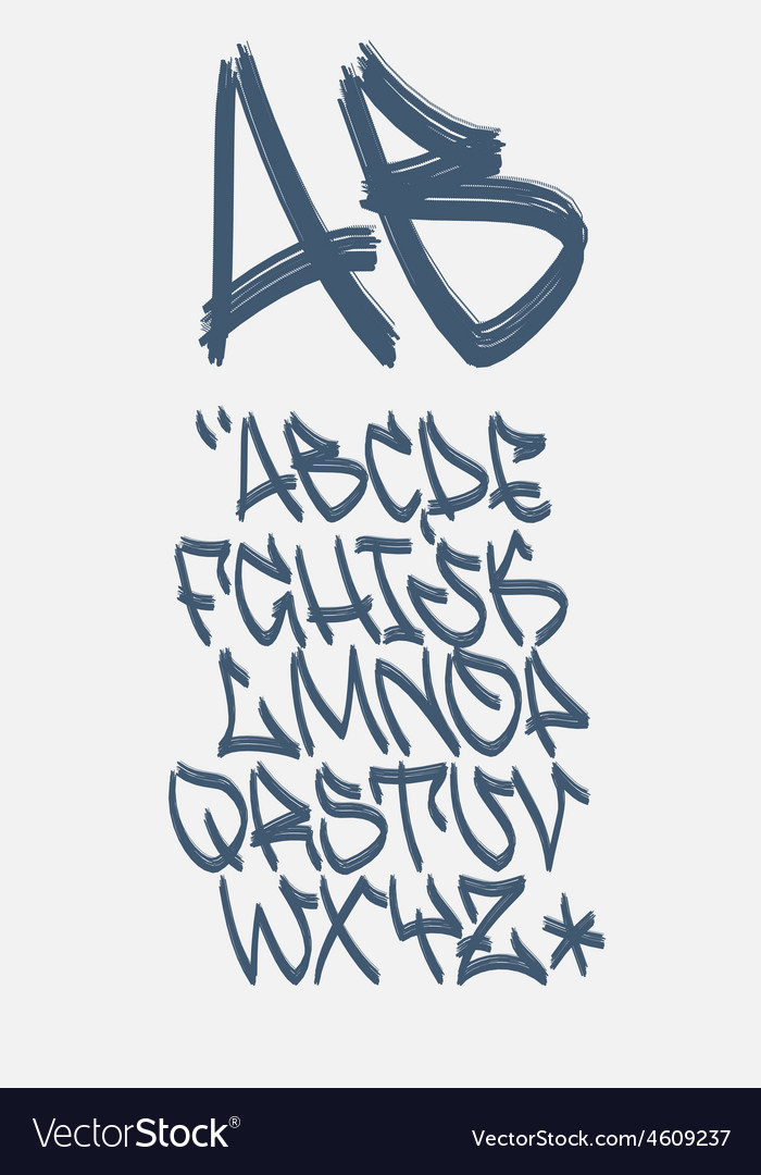 Graffiti font - marker - alphabet vector | Price: 1 Credit (USD $1)