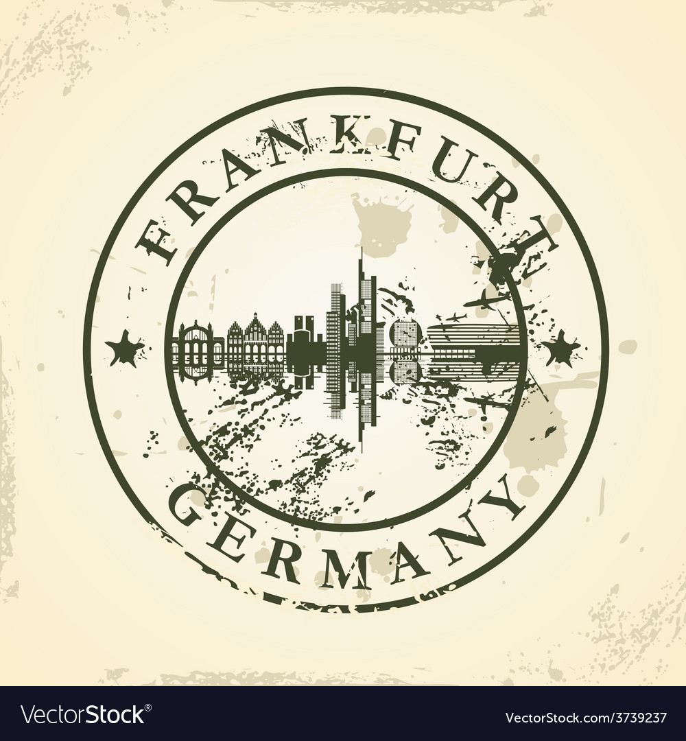 Grunge rubber stamp with frankfurt germany vector | Price: 1 Credit (USD $1)