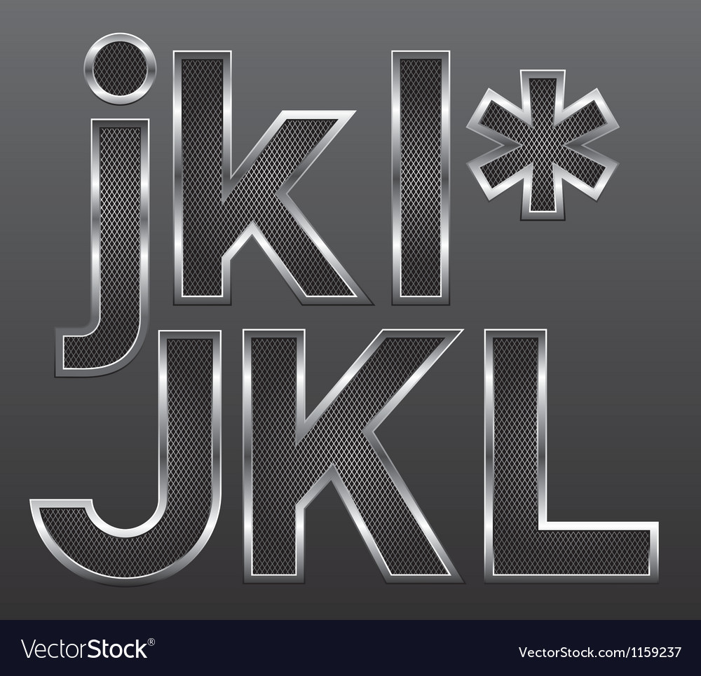 Metal letters big and small 04 vector | Price: 1 Credit (USD $1)