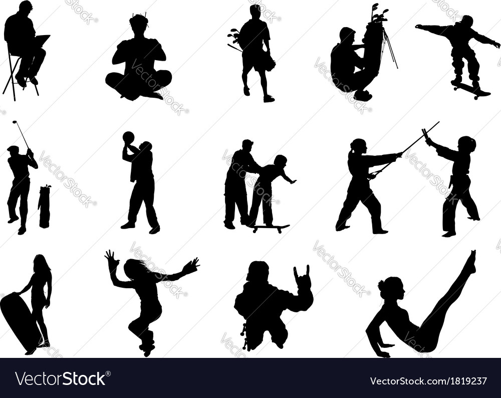 People silhouette - 06 vector | Price: 1 Credit (USD $1)