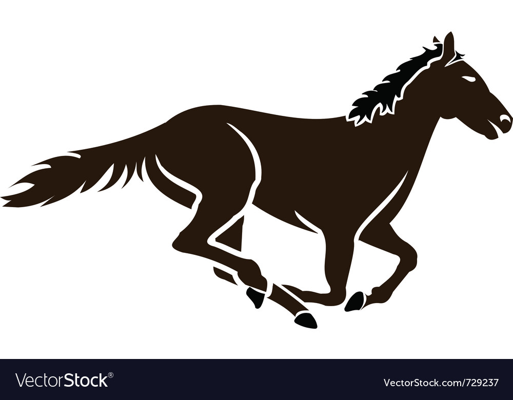Racing horse icon vector | Price: 1 Credit (USD $1)