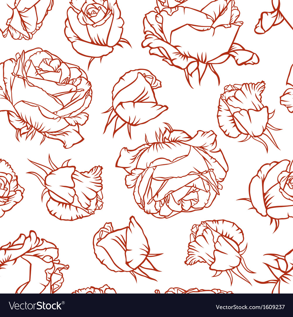 Rose pattern vector | Price: 1 Credit (USD $1)